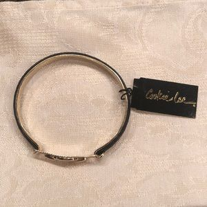 Gold and black skin bracelet